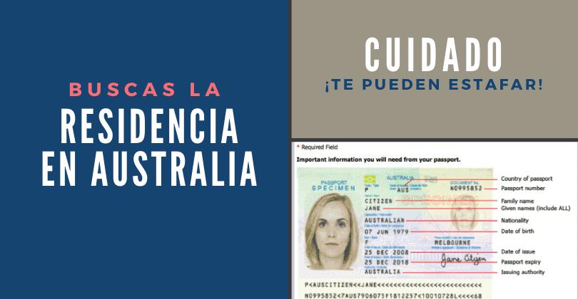 Buscas la residencia en Australia - Te pueden estafar