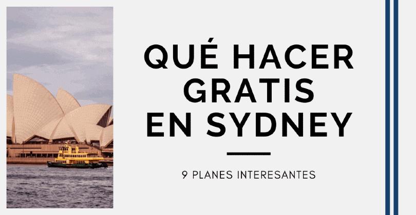 Qué hacer en Sydney gratis - 9 planes