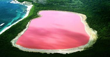 Australia y su lago rosado, Lake Hillier