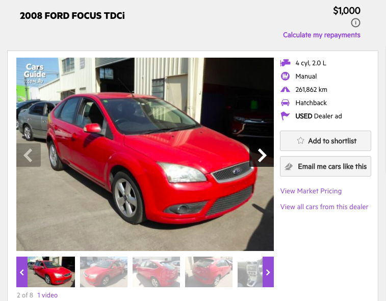Cómo comprar tu carro en Australia 2