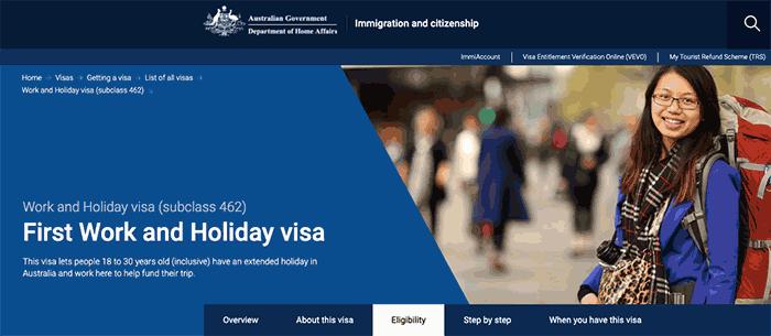 Visa con permiso para trabajar en Australia - Work and Holiday Visa