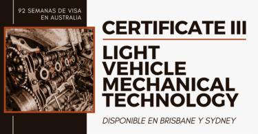 Certificate III in Light Vehicle Mechanical Technology