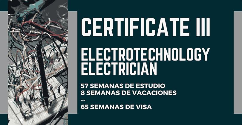 Cursos VET en Australia - Certificate III in Electrotechnology Electrician