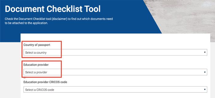 Solvencia Económica Australia -Document Checklist Tool